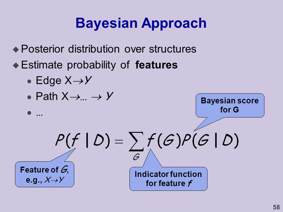 Bayesian Approach Posterior distribution over structures