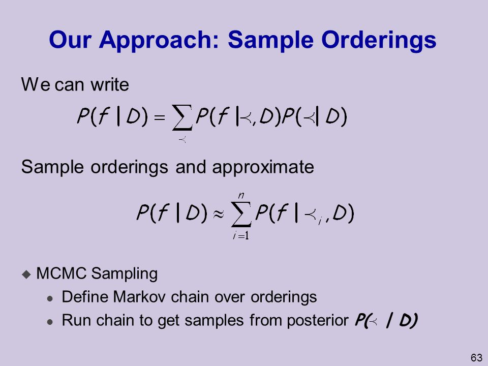 Our Approach: Sample Orderings