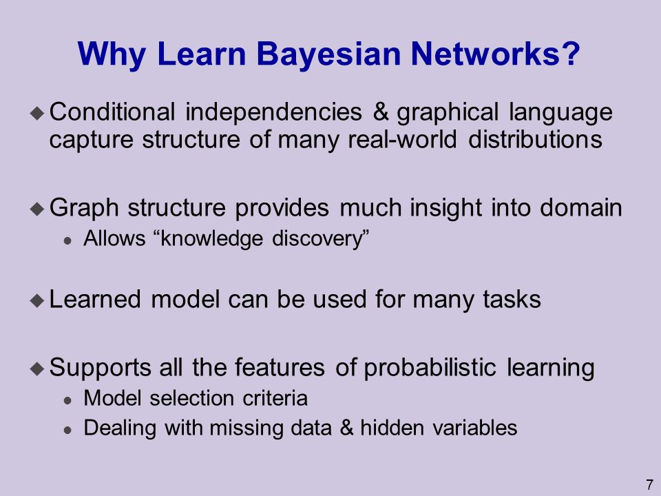 Why Learn Bayesian Networks