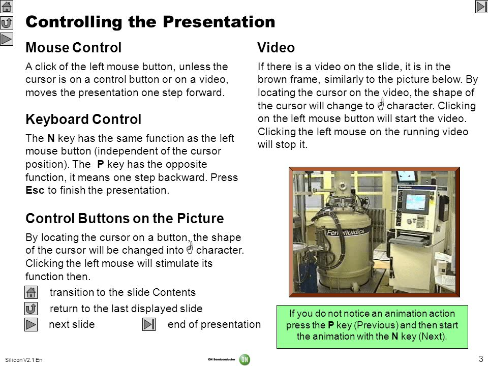 Controlling the Presentation