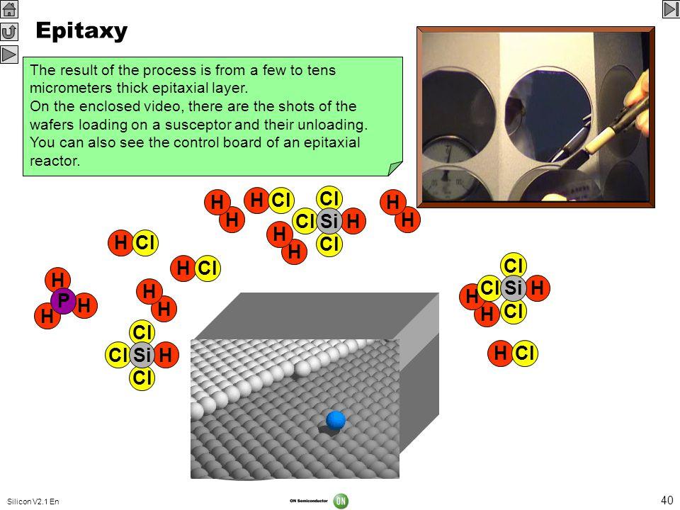 Epitaxy VIDEO 320 x 240 Cl H Si H Cl H P H Si