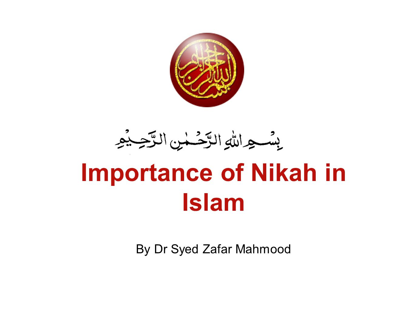 Importance of Nikah in Islam