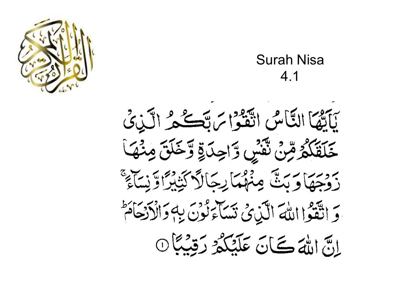 Surah Nisa 4.1