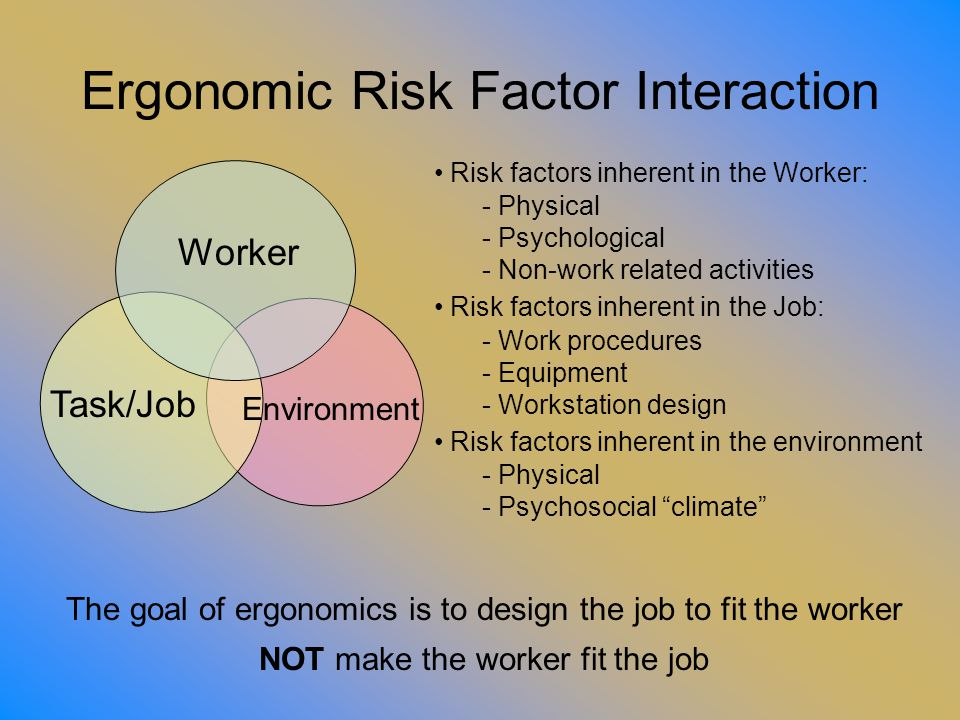 Ergonomic Risk Factor Interaction