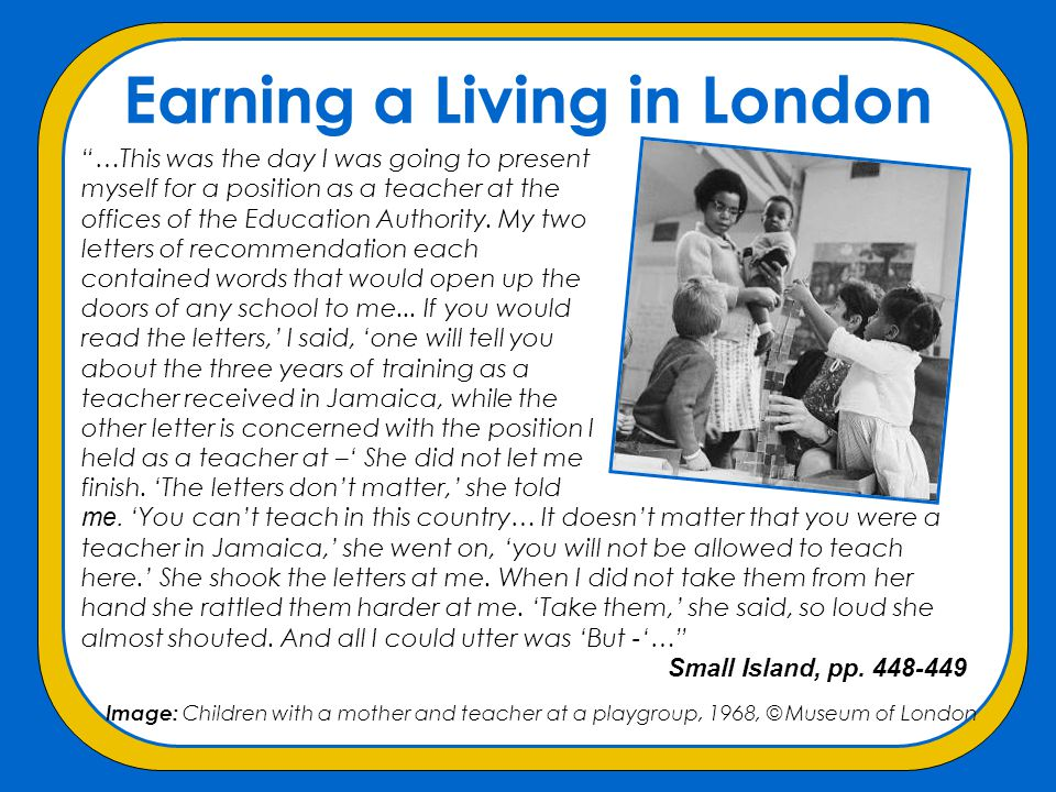 Earning a Living in London