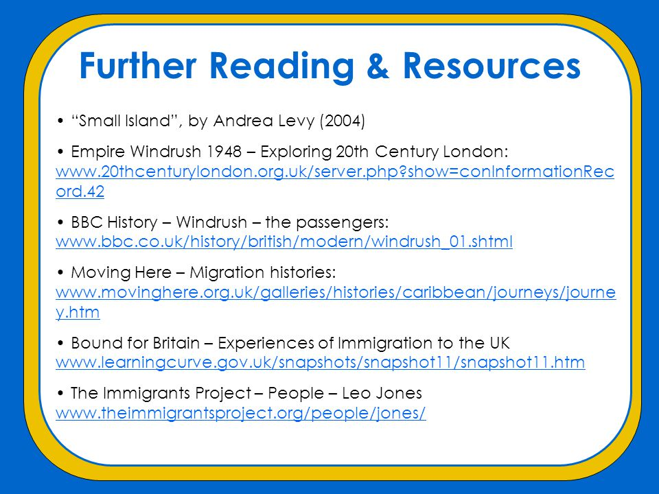 Further Reading & Resources