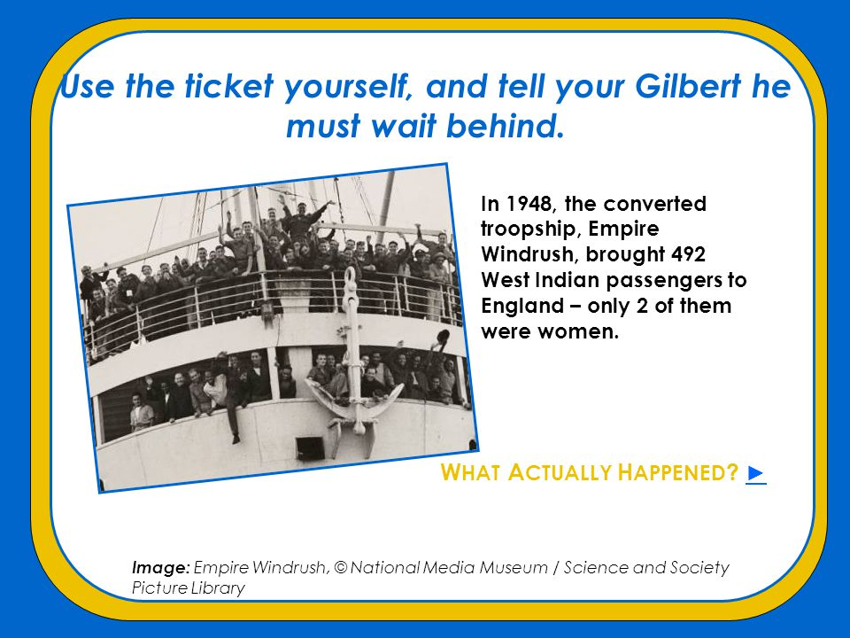 Use the ticket yourself, and tell your Gilbert he must wait behind.