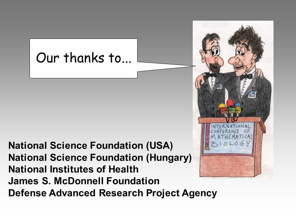 Our thanks to... National Science Foundation (USA)