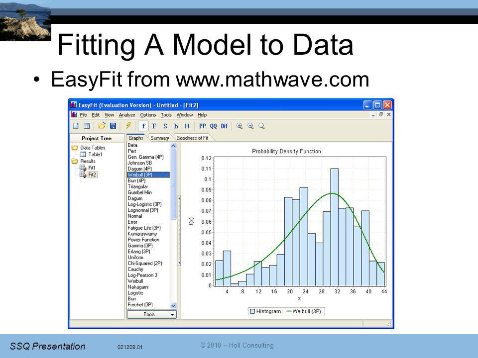 Fitting A Model to Data EasyFit from www.mathwave.com