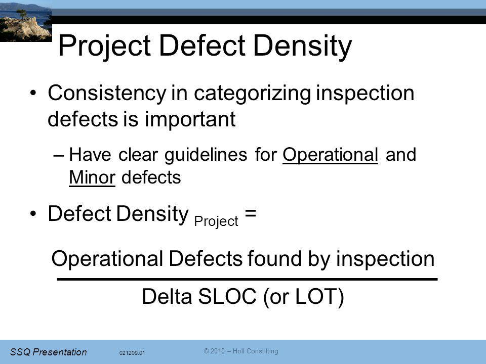 Project Defect Density