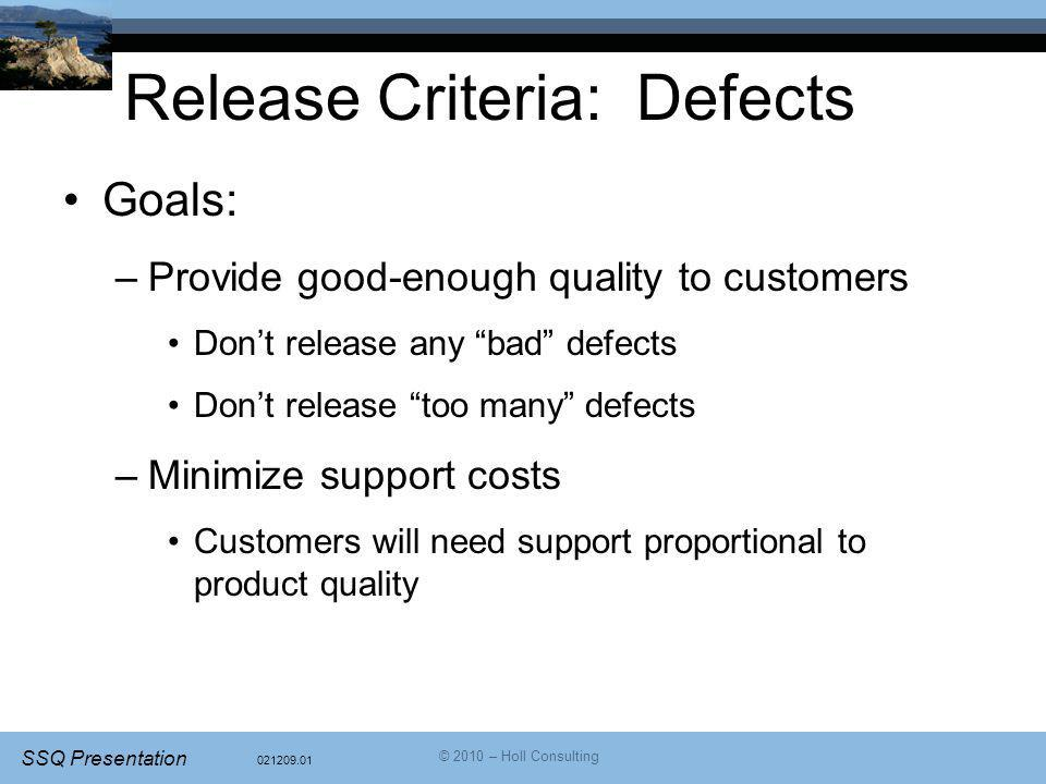 Release Criteria: Defects