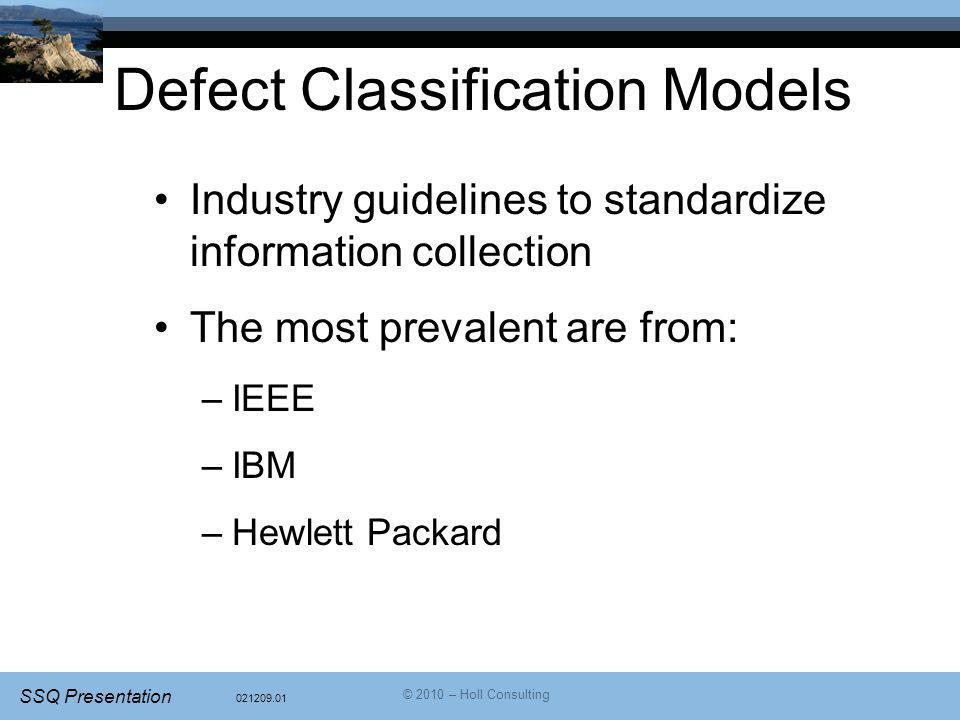 Defect Classification Models