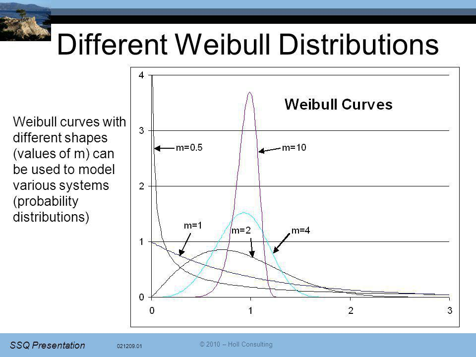 Different Weibull Distributions