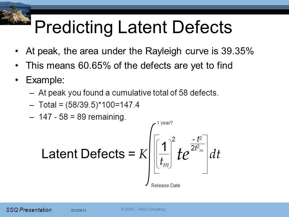 Predicting Latent Defects