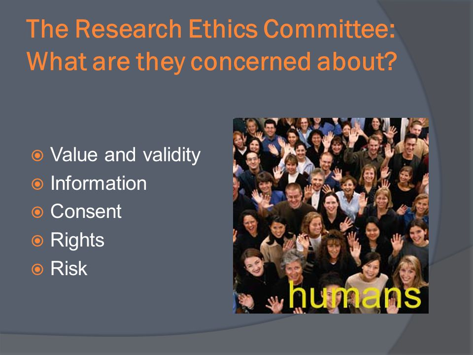 The Research Ethics Committee: What are they concerned about