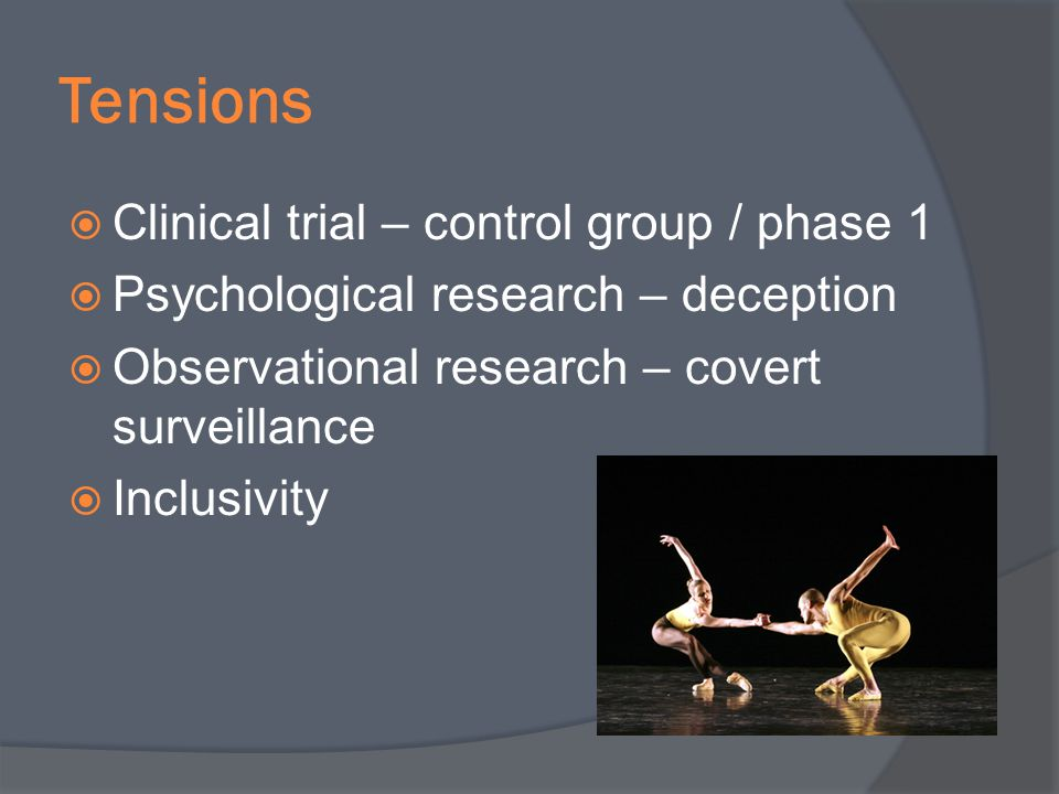 Tensions Clinical trial – control group / phase 1