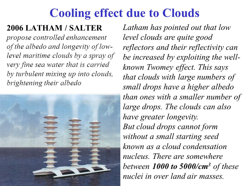 Cooling effect due to Clouds