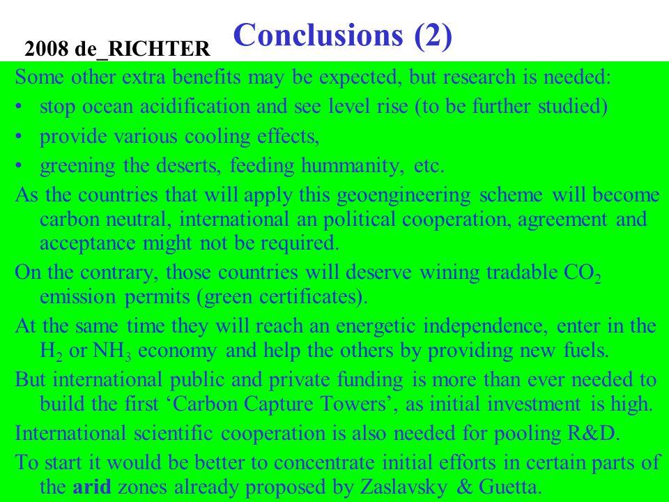 Conclusions (2) 2008 de_RICHTER