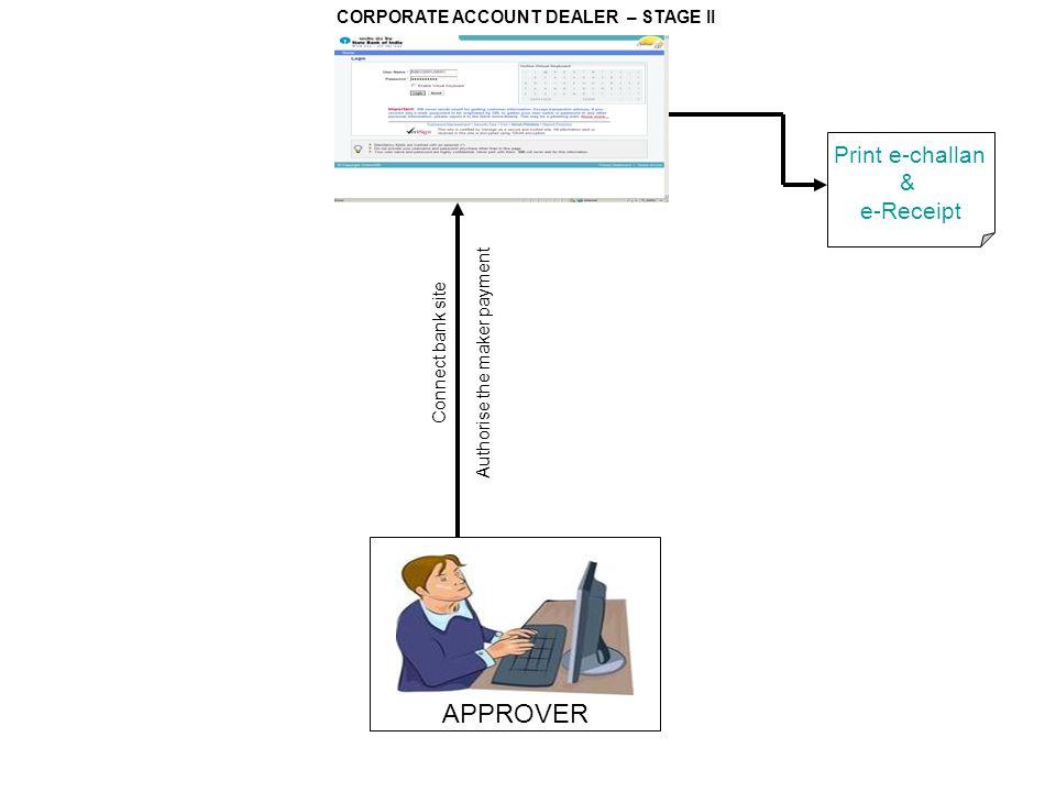 APPROVER Print e-challan & e-Receipt