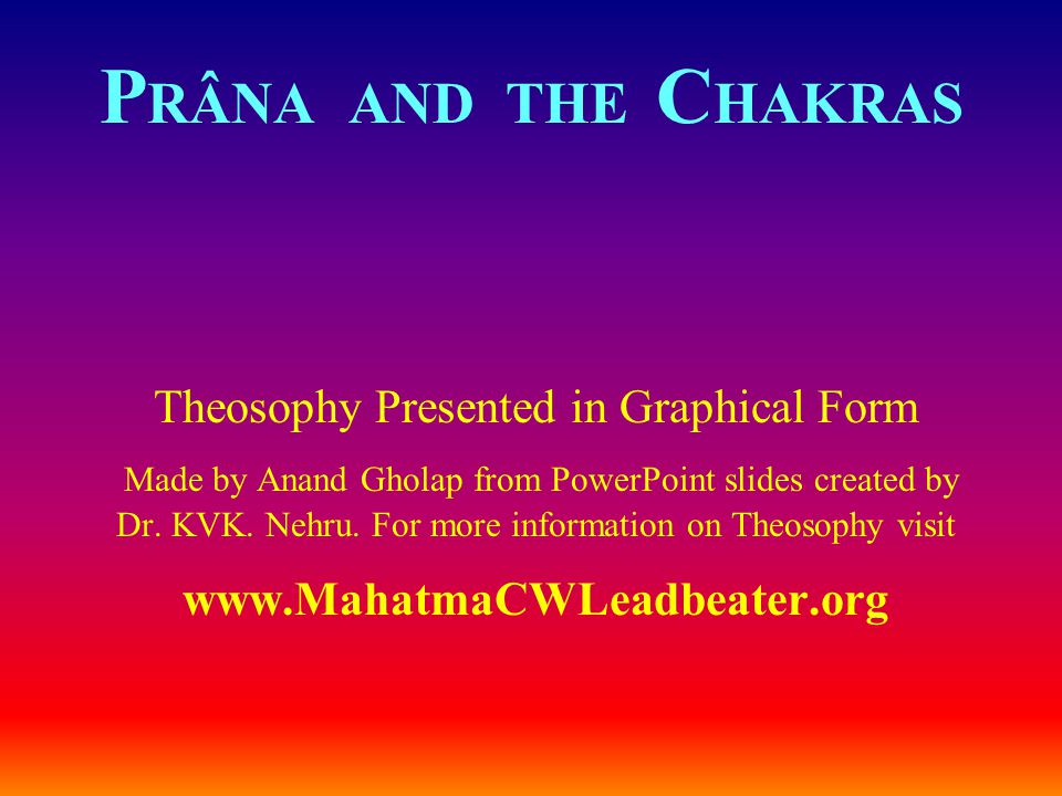 Theosophy Presented in Graphical Form