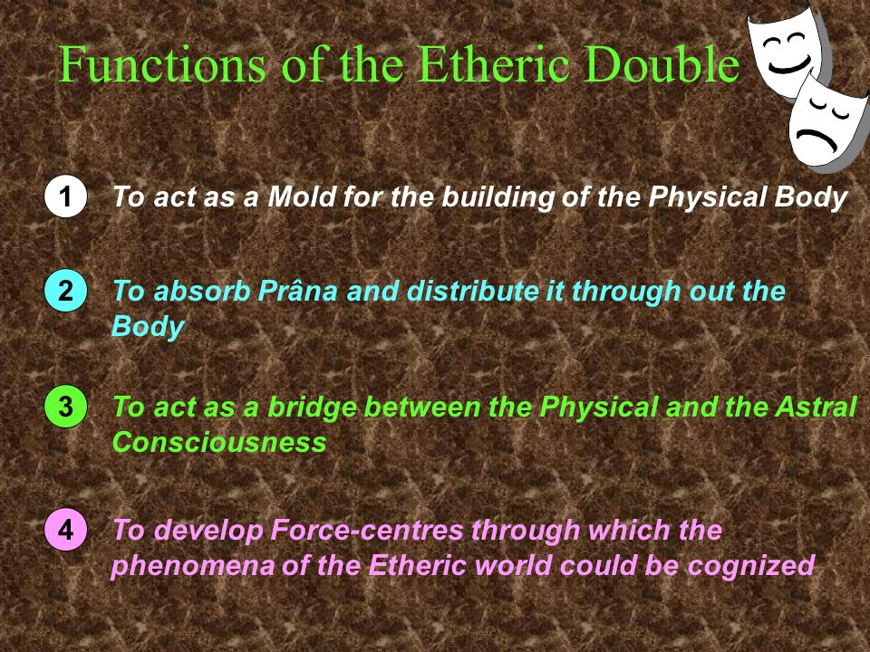 Functions of the Etheric Double