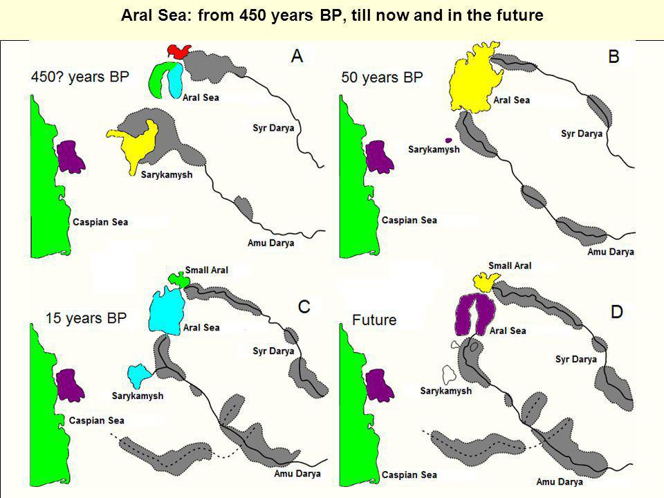 Aral Sea: from 450 years BP, till now and in the future
