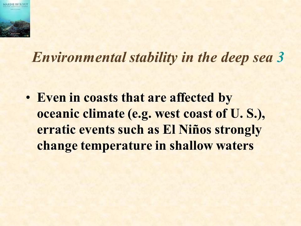 Environmental stability in the deep sea 3