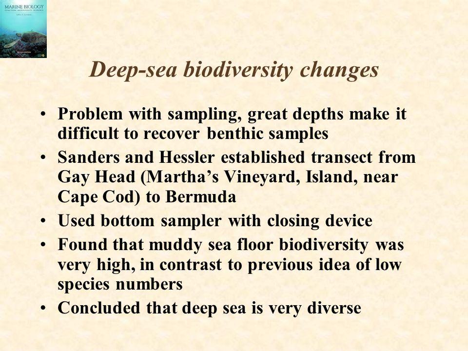 Deep-sea biodiversity changes