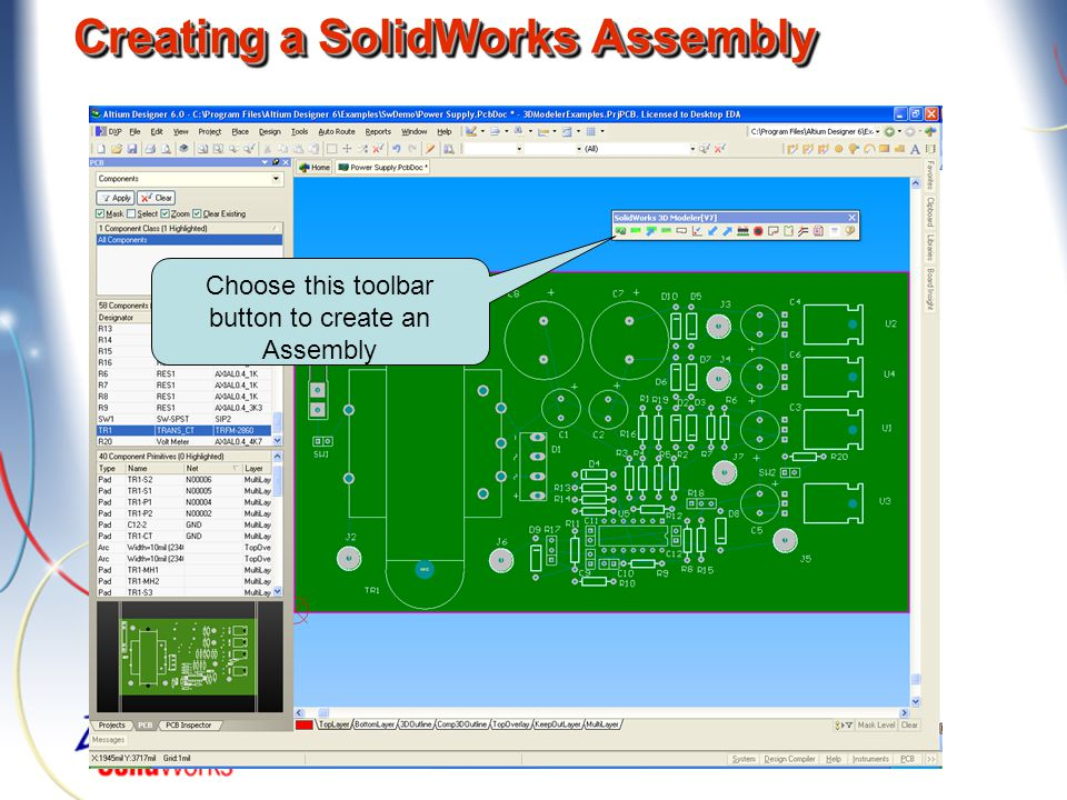 Creating a SolidWorks Assembly