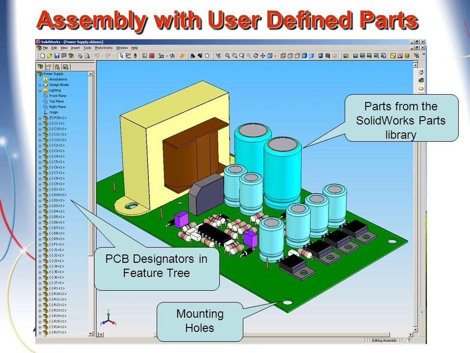 Assembly with User Defined Parts