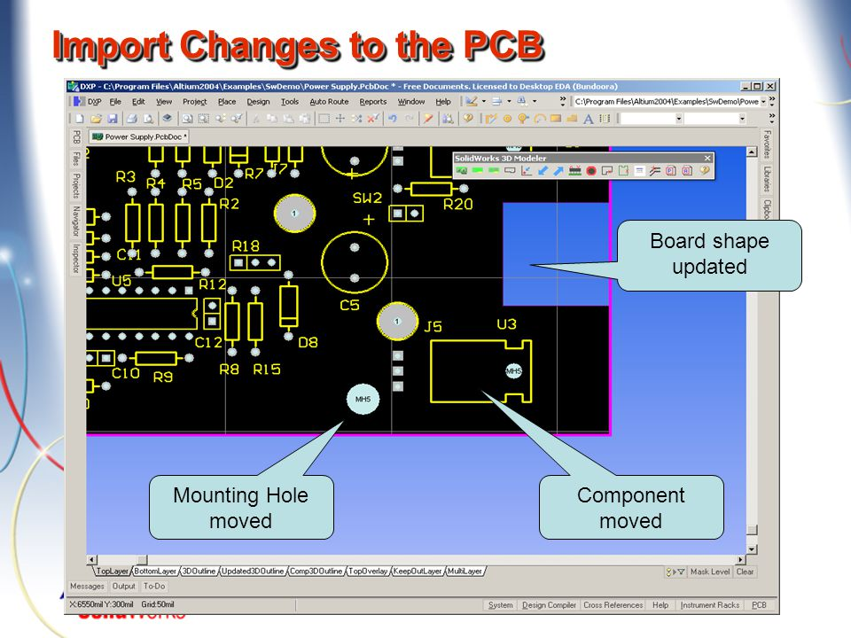 Import Changes to the PCB