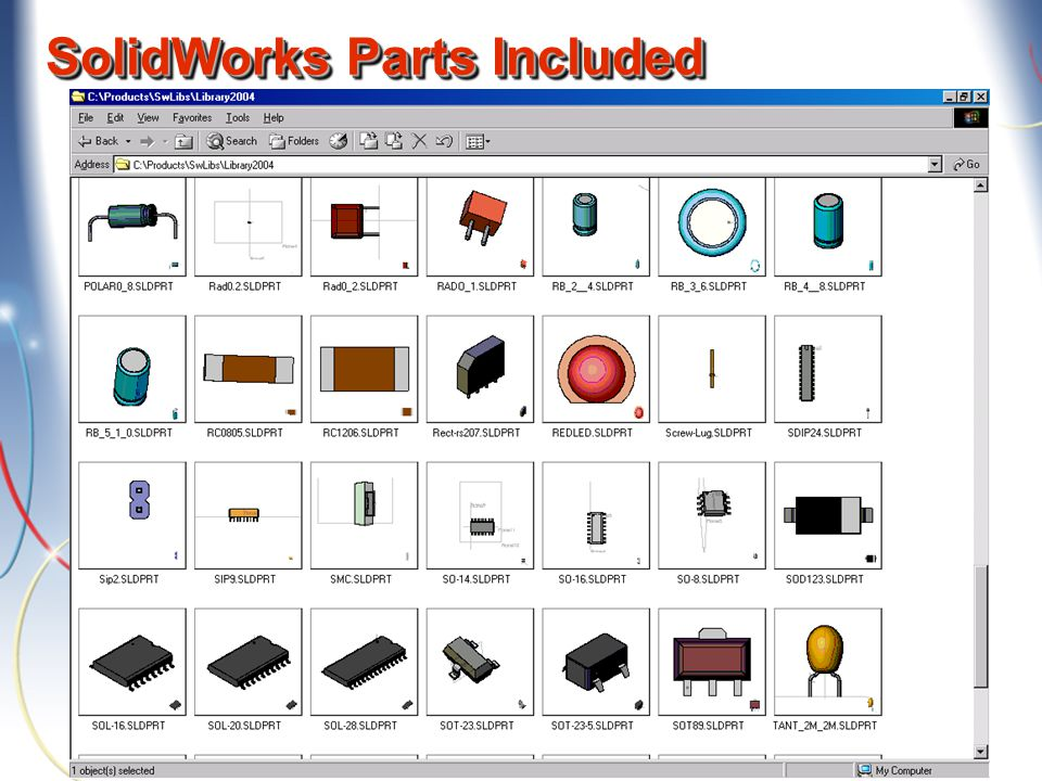 SolidWorks Parts Included