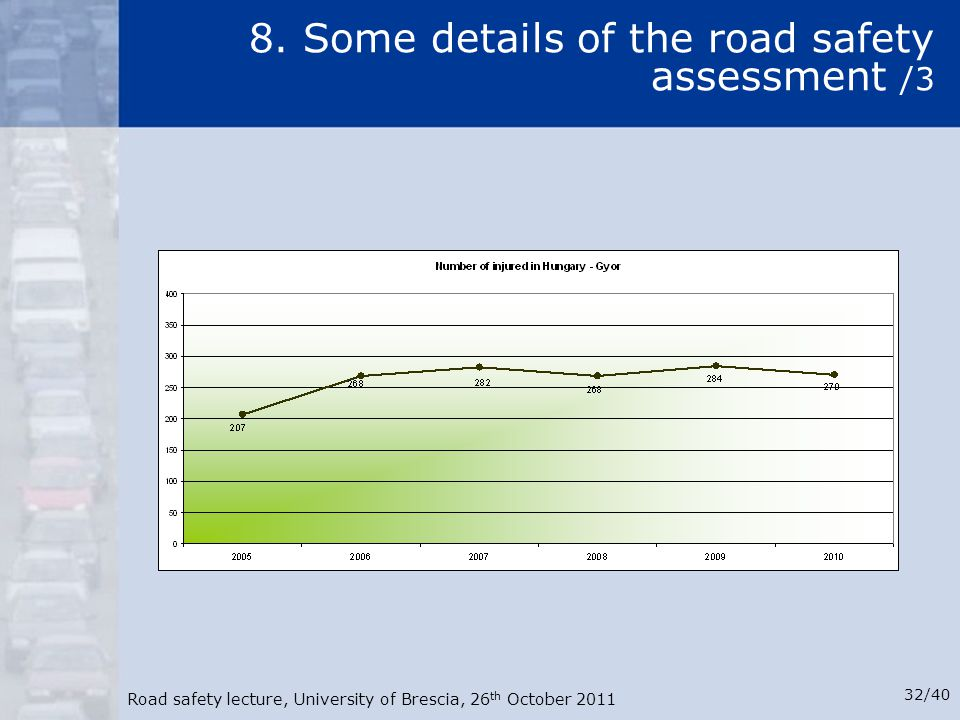 8. Some details of the road safety assessment /3