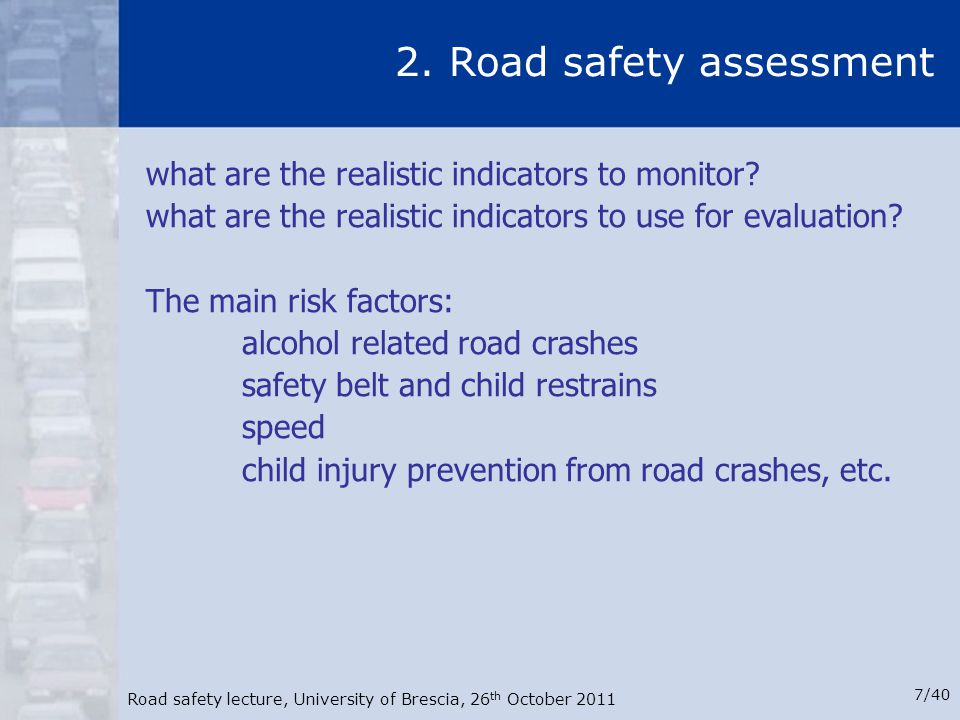 2. Road safety assessment