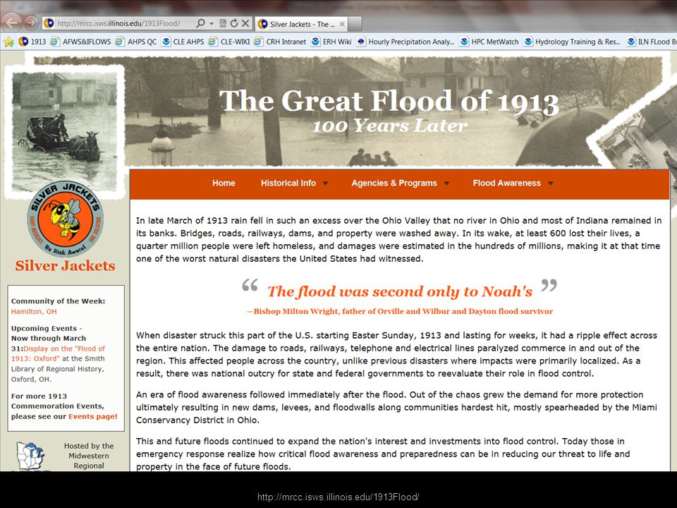 http://mrcc.isws.illinois.edu/1913Flood/