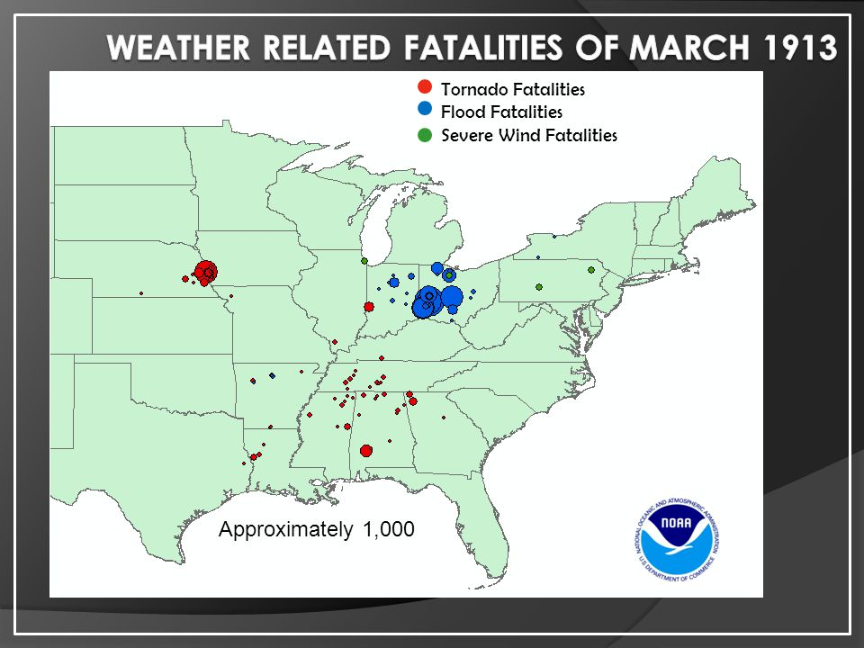 Weather Related Fatalities of March 1913