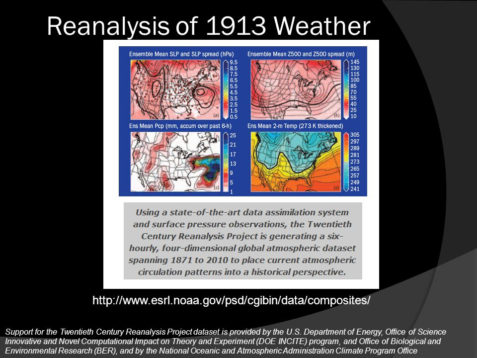 Reanalysis of 1913 Weather