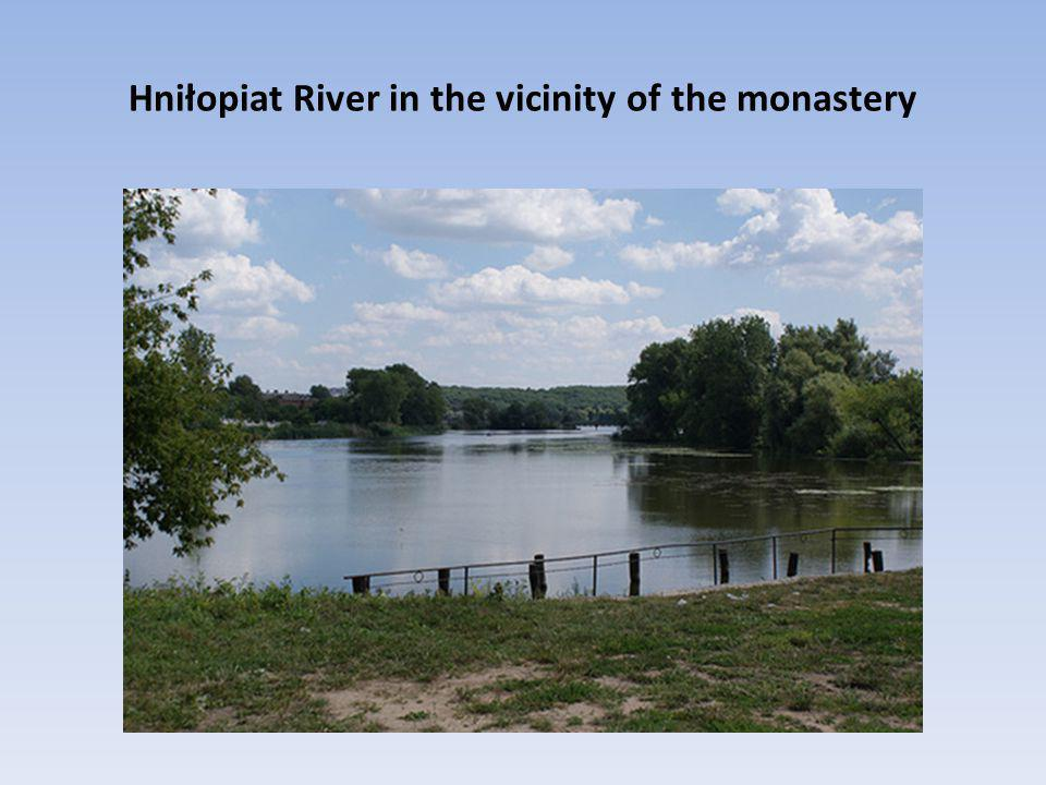 Hniłopiat River in the vicinity of the monastery