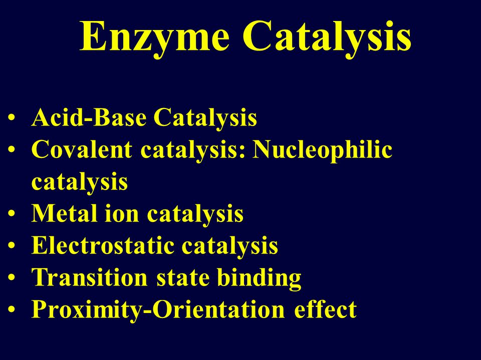 Enzyme Catalysis Acid-Base Catalysis