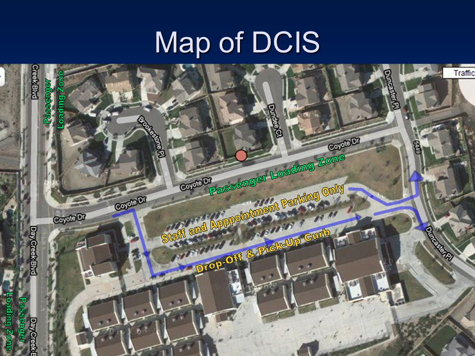 Map of DCIS