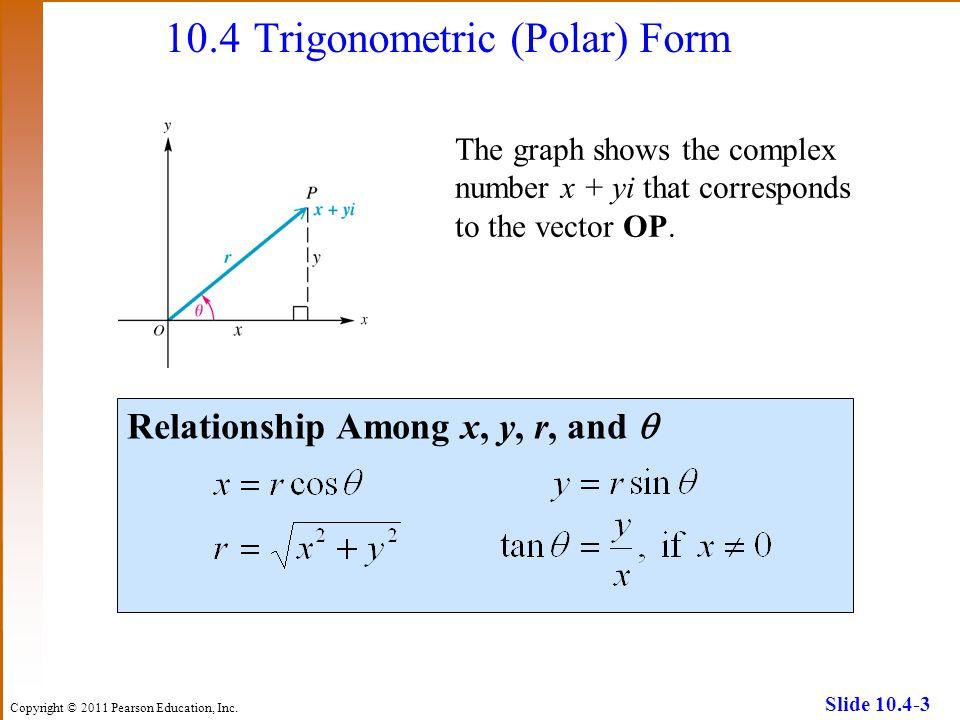 10.4 Trigonometric (Polar) Form