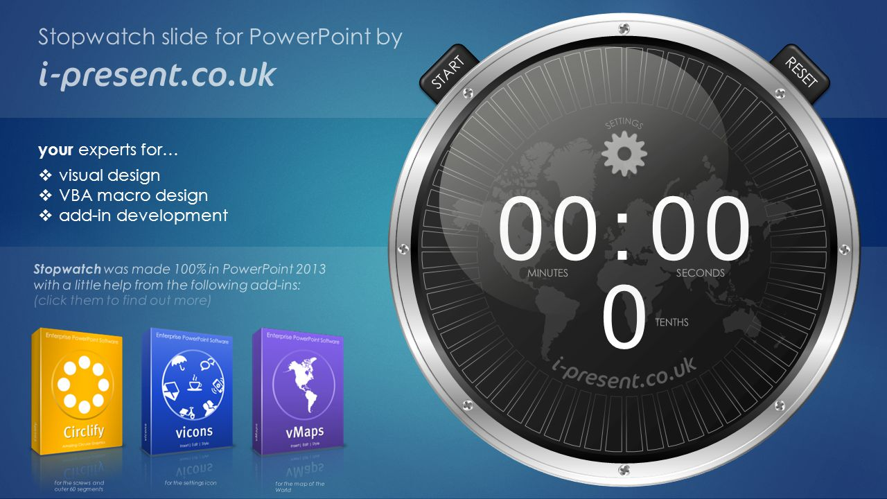 : Stopwatch slide for PowerPoint by your experts for… visual design