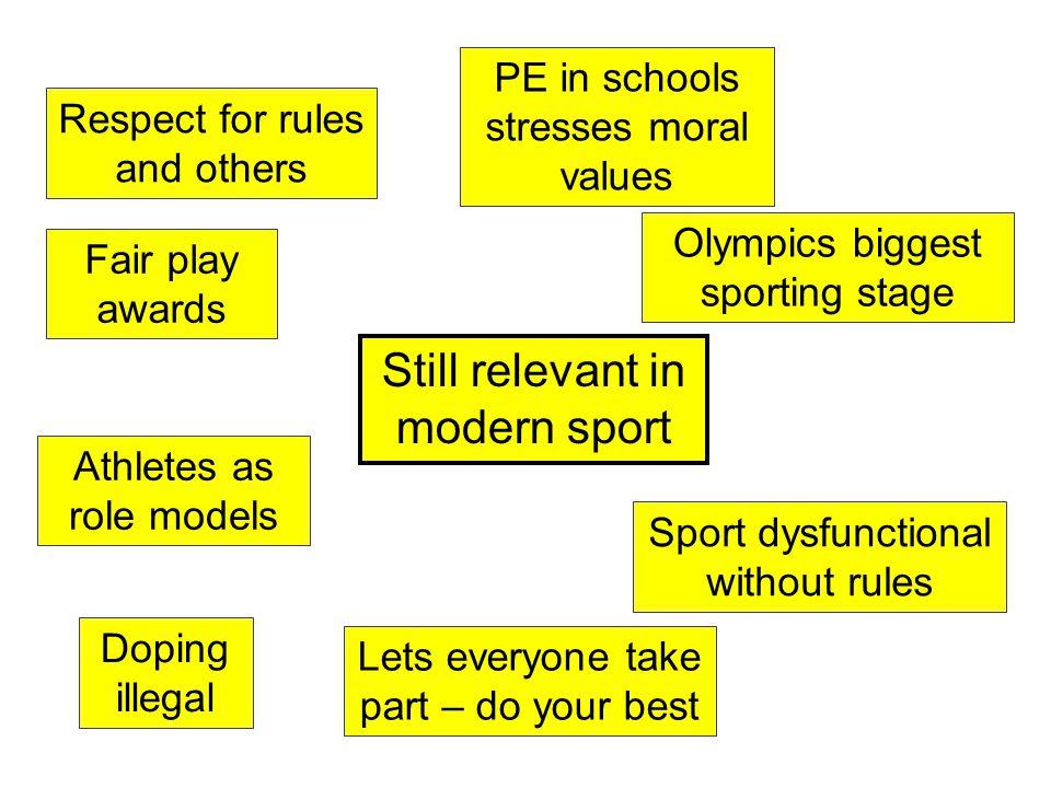 Still relevant in modern sport