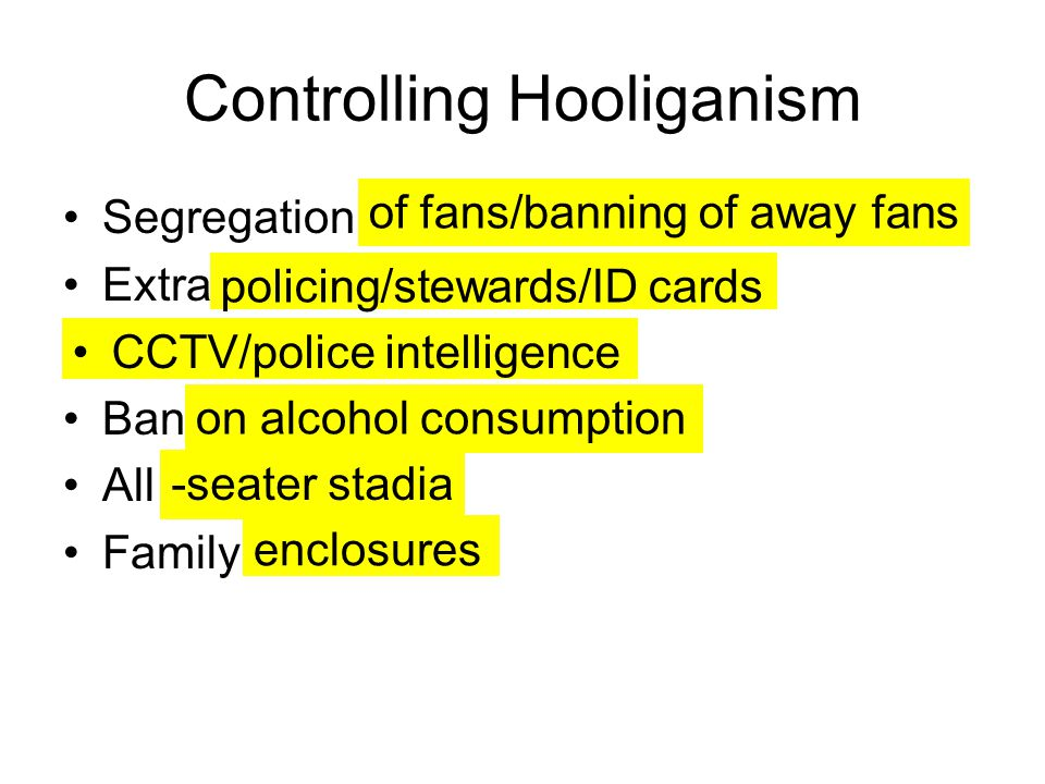 Controlling Hooliganism