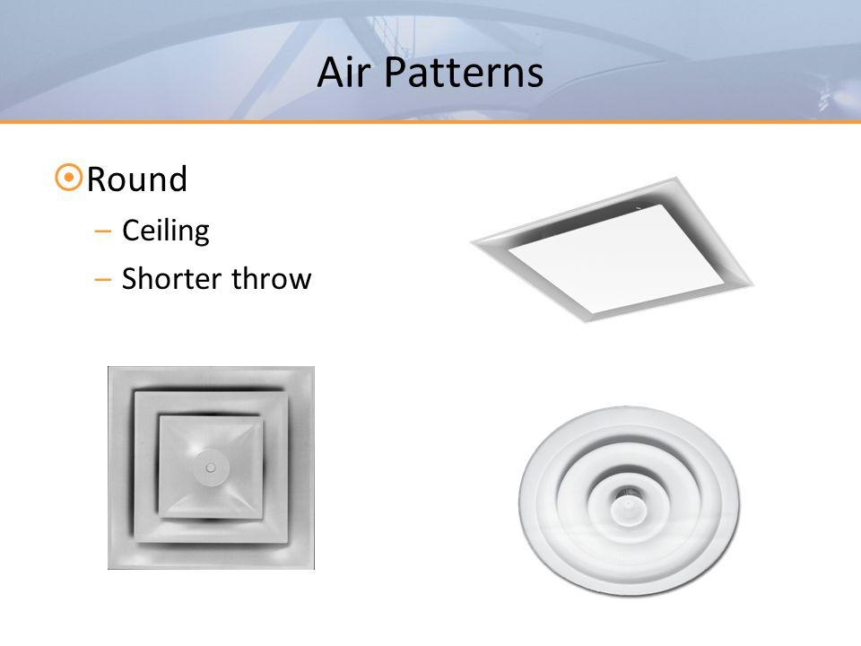 Air Patterns Round Ceiling Shorter throw