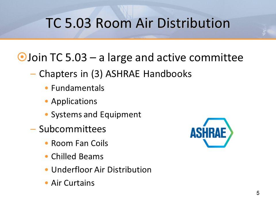 TC 5.03 Room Air Distribution