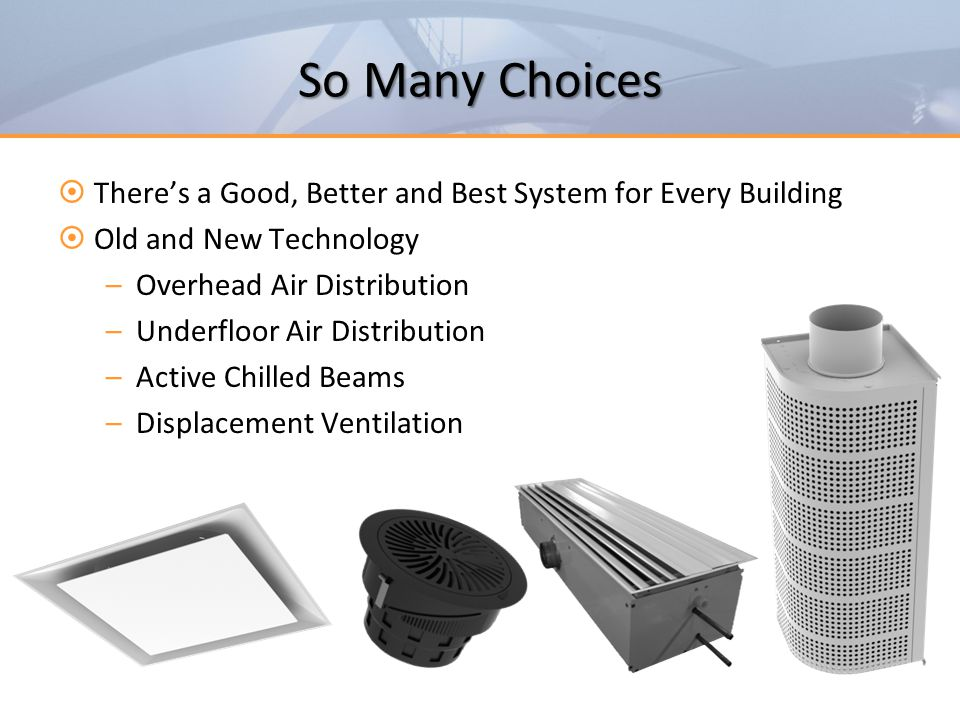 So Many Choices There's a Good, Better and Best System for Every Building. Old and New Technology.