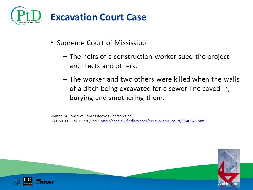 Excavation Court Case Supreme Court of Mississippi