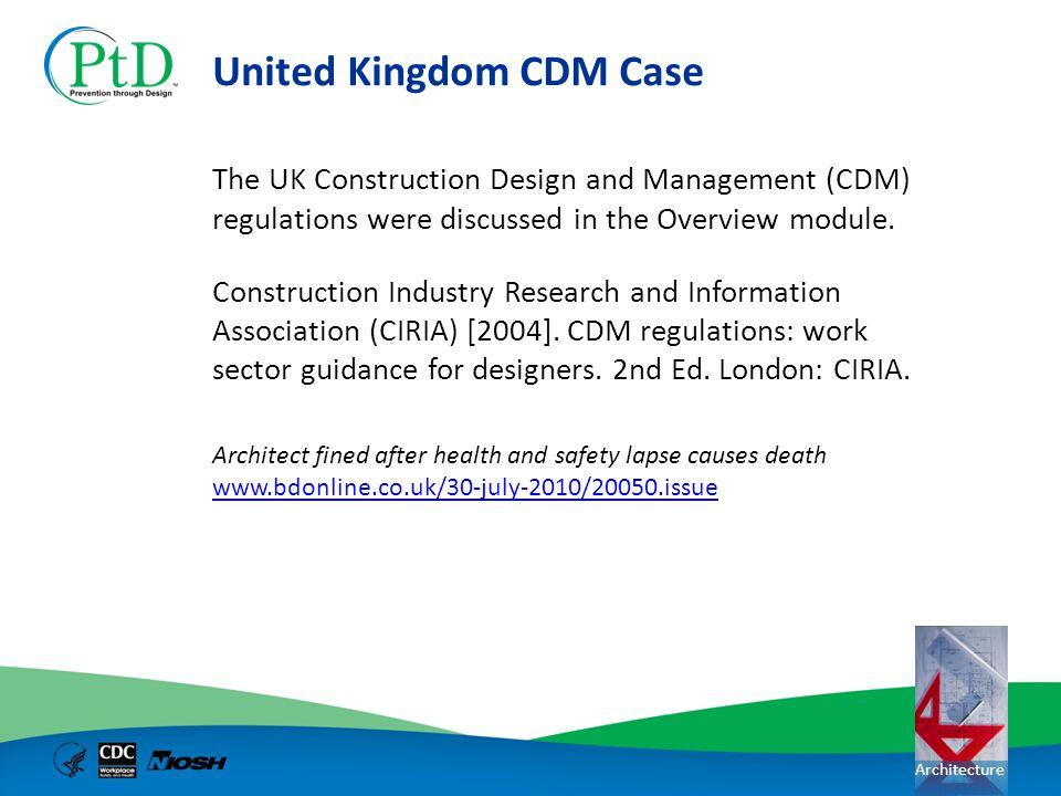 United Kingdom CDM Case