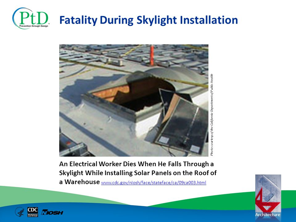 Fatality During Skylight Installation